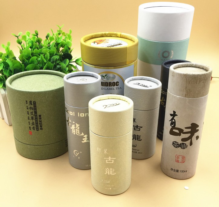 High quality Cylindrical gift box for glasses/kraft paper round candle packaging ttea in EECA China supplier