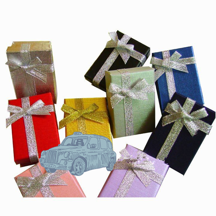 Multipurpose rectangle packaging box/jewelry gift box with shiny ribbon decorate in China
