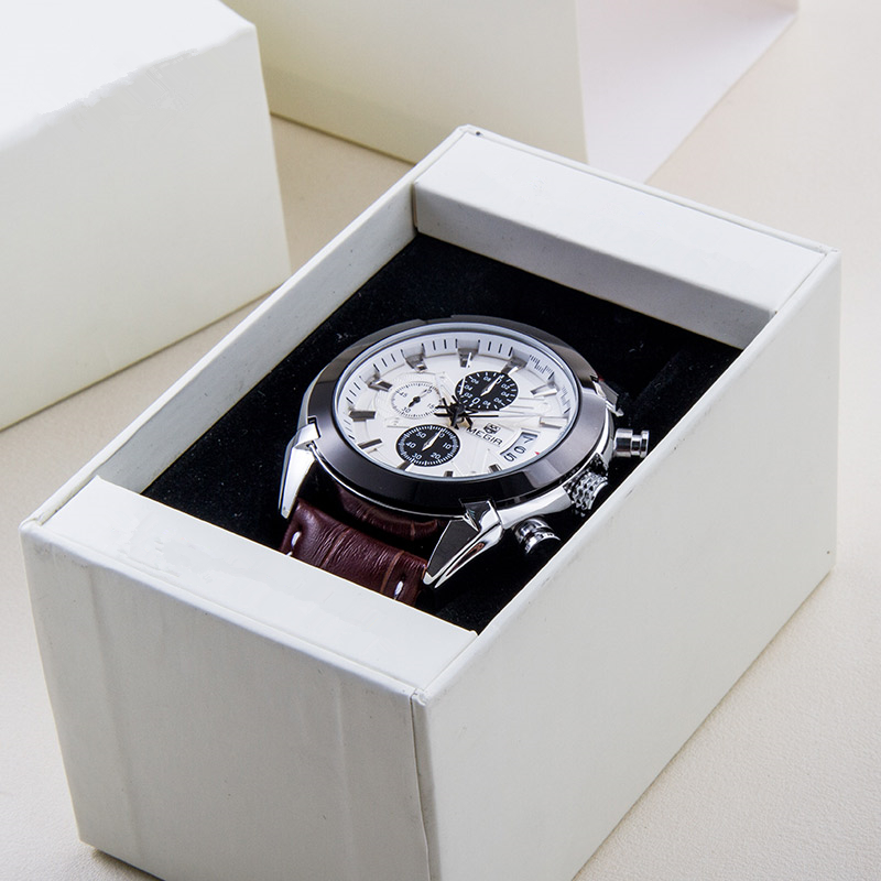 New design paper white drawer watch storage box with pillow in EECA